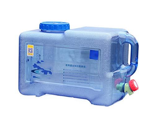 Bidones Agua Bidón Plástico con Grifo Contenedor De Agua Portátil Engrosamiento De La...
