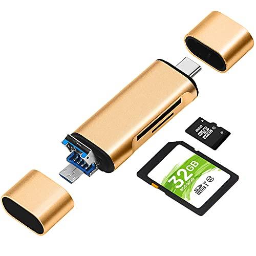 Lector de Tarjetas de Memoria SD/Micro SD, BorlterClamp 3 en 1 Lector...