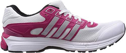 adidas Nova Cushion W - Zapatillas para Mujer, Color Blanco/Plata/Rosa, Talla 44