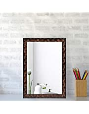 Creative Arts n Frames Synthetic Fiber Wood Wall Mirror (10 x 14 inch) (Brown)