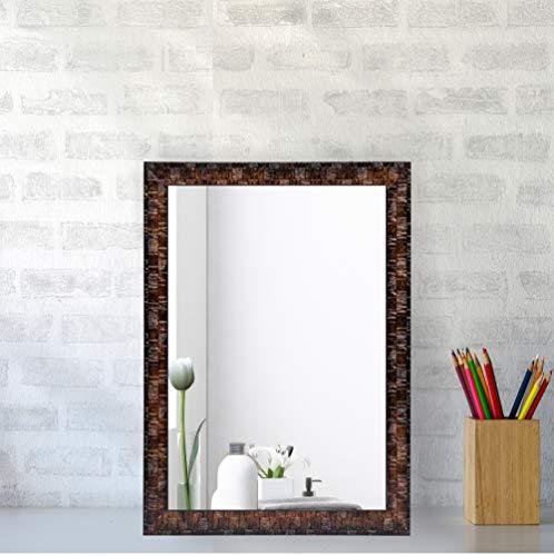 Creative Arts n Frames Synthetic Fiber Wood Wall Mirror (10 x 14 inch) (Brown)