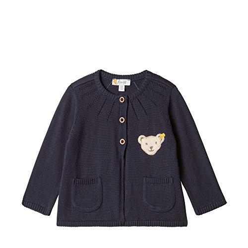 Steiff Baby-Mädchen Strickjacke, Blau (BLACK IRIS 3032), 74 (Herstellergröße:74)