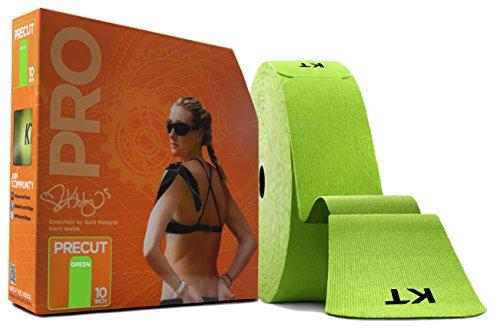 KT Tape Pro Jumbo 150 Strip Bande de kinésiologie synthétique prédécoupée Mixte, Winner Green, Synthetic pre-Cut