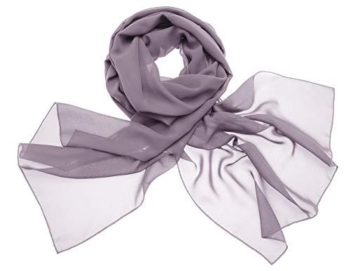 Dresstells Chiffon Schal Stola für Abendkleider in Verschiedenen Farben Grey 190cmX70cm/ Medium