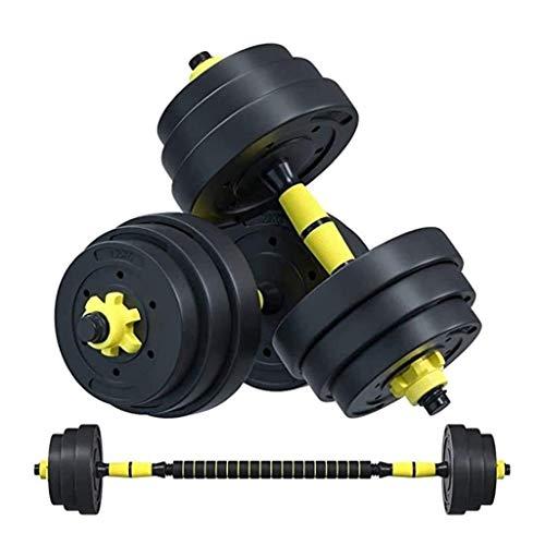 Mancuernas Para Hombre Fitness Hogar 20 30 Kg Equipo De Ejercicio con Barra Peso Ajustable Par Masculino Agarre Antideslizante (Color : Yellow, Size : 15kg)