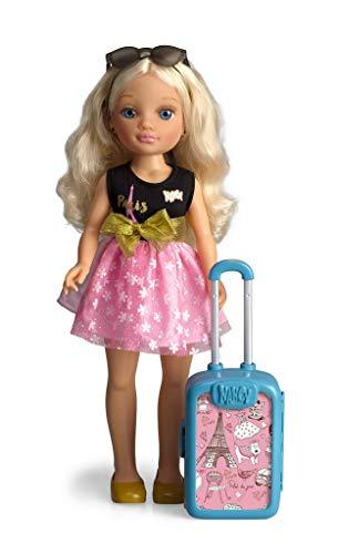 Nancy - Chic Viaja A París, Muñeca con Maleta y Accesorios para Niños y Niñas a Partir de 3 Años, Multicolor, (Famosa 700015341)