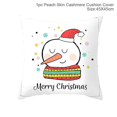 WERNG FENGRISE Merry Christmas Decor For Home Santa Claus Elk Pillowcase Christmas Ornament 2019 Navidad Navidad Gift Happy New Year 2020 49-83