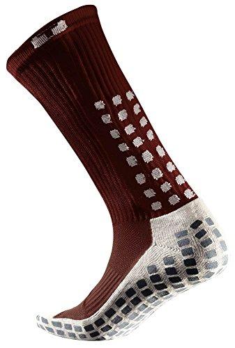 TRUSOX Mittelwadenhohe Soccer Socken (Paar), kastanienbraun, S