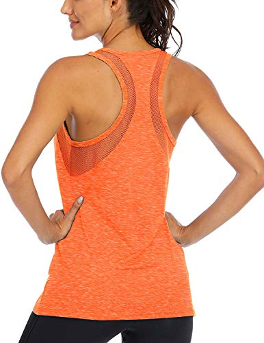 Fihapyli Women's Yoga Tops Sleeveless Workout Tank Tops for Women Breathable Mesh Backless...