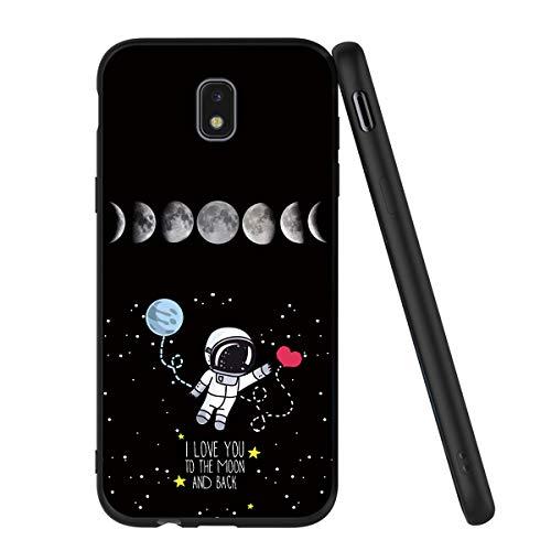 Yoedge Funda Samsung Galaxy J5 2017, Ultra Slim Cárcasa Silicona Negro con Dibujos Animados Diseño Patrón 360 Bumper Case Cover para Samsung Galaxy J5 2017, Globo