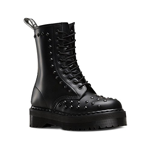 Dr. Martens 1490 Studded Black Smooth Anfibio con Borchie 10 Fori (41)