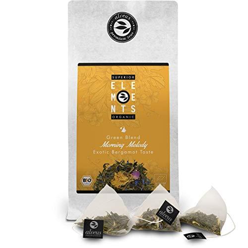 """alveus """"Morning Melody"""" im Beutel (15x3g) Mango Orange Bergamott Grüner Tee Bio Lose, Grüntee Teebeutel aromatisch, Tüte von alveus Premium Teas"""