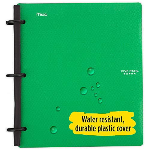 Five Star Flex Hybrid NoteBinder, 1-1/2 Inch Binder with Tabs, Notebook and 3 Ring Binder All-in-One, Green (72401) Photo #3