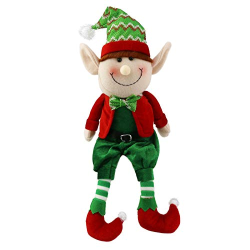 Wewill 16'' Stuffed Elf Plush Toys Christmas Decoration Adorable Elves Figure Xmas Ornaments(Boy)