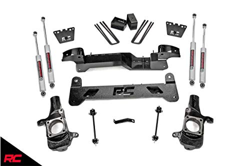 "Rough Country 6"" Lift Kit compatible w/ 2001-2010 Chevy Silverado GMC Sierra HD SRW 2WD w/ N3 Shocks Suspension 220N3 GM"