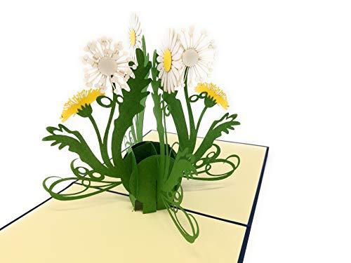 Geburtstagskarte mit Blumen, Pop up Karte für Mama oder Oma, 3D Grußkarte Gute Besserung, Glückwunschkarte Geburtstag, Geldgeschenke, F19