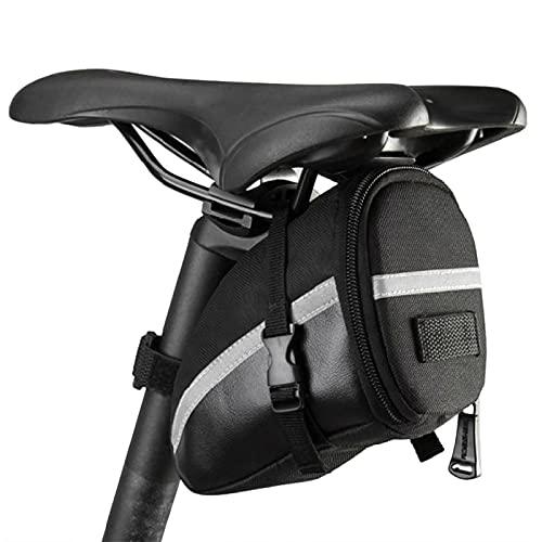 Lixada Bolsa Negra de Sillín de Bicicleta 15x8x9cm para Bicicletas de Montaña de Carrera Teléfonos
