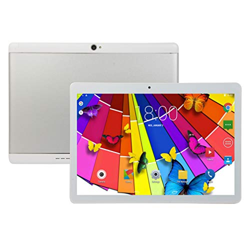 10-Zoll-Android-Tablet-PC, 4 GB RAM, 64 GB ROM, Octa-Core-Prozessor, HD-Touchscreen-5G-WiFi-Tablet-PC, integrierte Bluetooth-WiFi-GPS-Tablets, E7 (Silber)