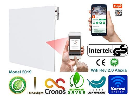 ORIGINAL CRONOS APP WiFi verwarmingspaneel, infrarood 450 W verwarming met thermostaat, wifi-module 2.0, GS-keurmerk, getest door Duitse testinstituut Intertek