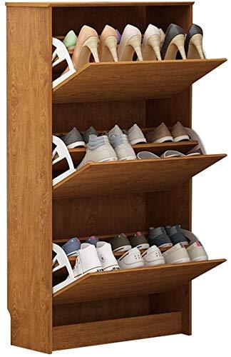 Gabinete de zapatos ultra delgada 24 cm Gabinete de zapatos de volteo simple Moderno moderno Zapato de zapatos Home Hall Gabinete Zapato Estante,Brown