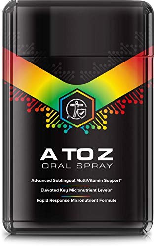 Premium A to Z Multivitamin Spray (20ml / 40 Day Supply) 100% Daily NRV All Essential Vitamins A,C, D, E, K Plus B Complex (Suitable for Vegetarians & Vegans)