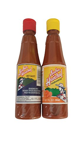 Set of 2: Gourmet Salsa Huichol Hot Sauce & Habanera Roja, 6.5 oz bottles