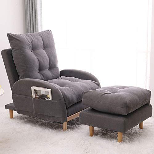 DGDF Sillón reclinable para sofá, sillón reclinable ajustable para cine en casa con cojín grueso y respaldo
