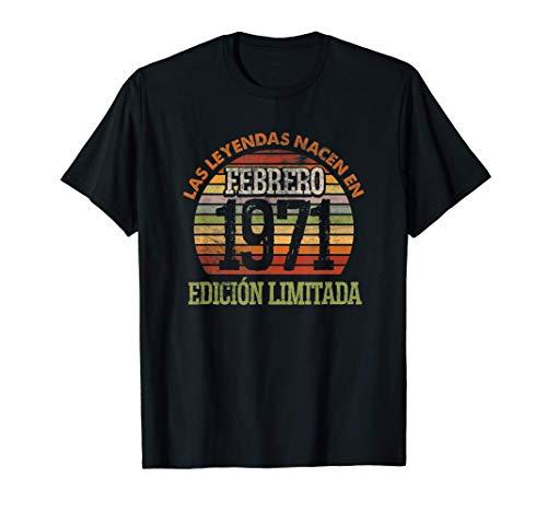 Las Leyendas nacen en Febrero de 1971 - 50 años Cumpleaños Camiseta
