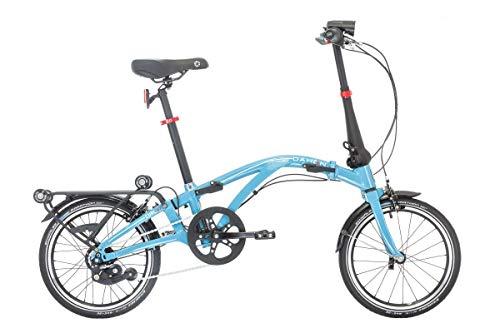 Dahon Curl i7, Bicicletta Pieghevole Unisex Adulto, Blu, 16'