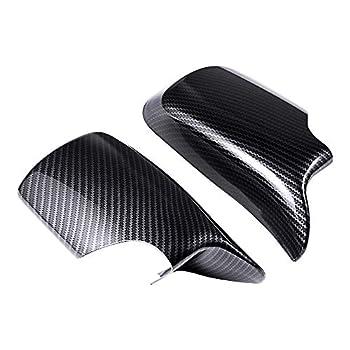 LR Carbon Fiber Door Rearview Mirror Covers Cap Compatible with 98-05.02 3 Series E46
