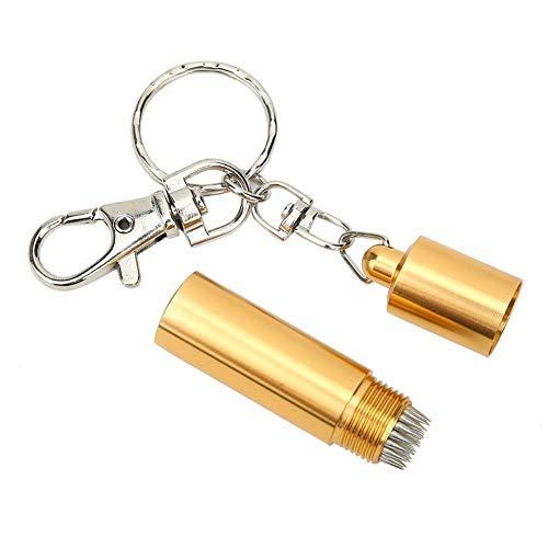 Heitune Snooker Pool Cue TIPP Pricking Pin Grinding Reparieren Werkzeug Billard Queue Zubehör (golden)