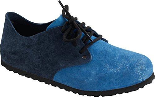 Birkenstock Schuhe ''Maine'' aus echt Leder in Navy/Riviera 38.0 EU S