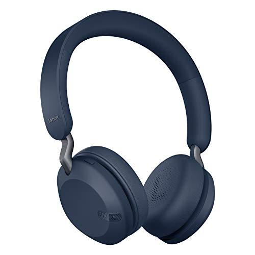 Jabra Elite 45h – Auriculares inalámbricos On-Ear compactos y Plegables – hasta 50 Horas de batería – tecnología de Llamadas a Dos micrófonos – Azul Marino