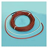 WUZHOUAME Electro-Thermal Heating Carbon Fiber Heating Wire Greenhouse Temperature Controll Underfloor Heating Cable 15m 6k 33 Ohm
