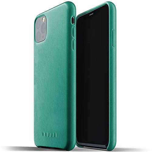 Mujjo Full Leather Case for Apple iPhone 11 Pro Max | Premium Soft Supple Leather, Unique Natural Aging Effect | Leather Wrapped, Super Slim (Alpine Green)