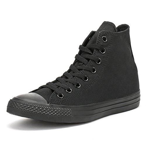 Converse All Star Hi Canvas Sneakers Nero Monocromatico-UK 9.5