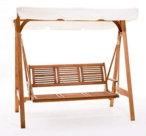 WeBMARKETPOINT # Balancín de jardín modelo Texas 3 plazas estructura de madera #