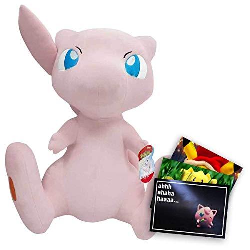 Lively Moments Pokemon XXL Plüschtier / Kuscheltier / Pokemonfigur ca. 60 cm großes Mew und Exklusive GRATIS Grußkarte