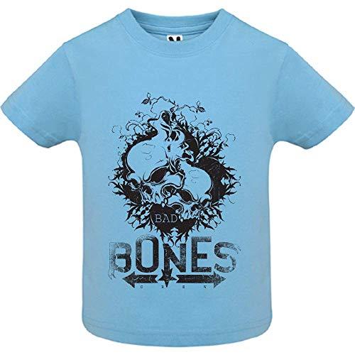 LookMyKase T-Shirt - Bad Bones Crew - Bébé Garçon - Bleu - 6mois