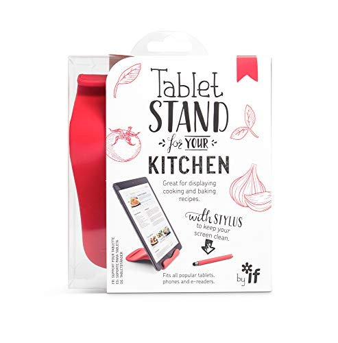IF The Kitchen Tablet Stand met Gratis Stylus, Handsfree Tablet Holder - Rood