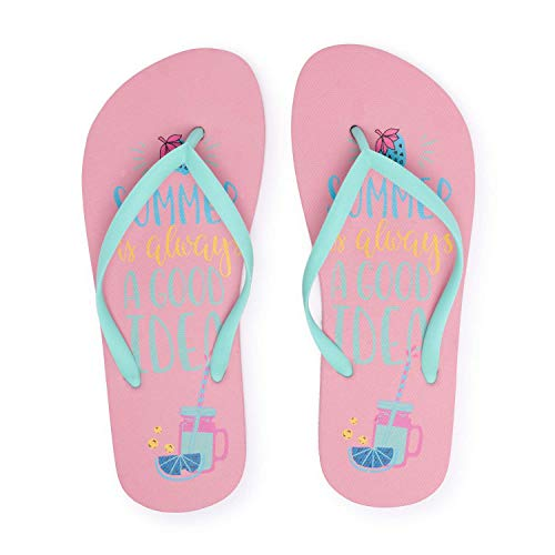 Montse Interiors, S.L. Chanclas Flip Flop Playa y Piscina para Mujer o Chica (38 EU, Summer)