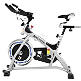 ANCHEER Indoor Cycling Bike Stationary, 40 lbs Flywheel Exercise Bike with Heart Rate, Quiet Smooth Belt Drive System, Adjustable Seat and Handlebars