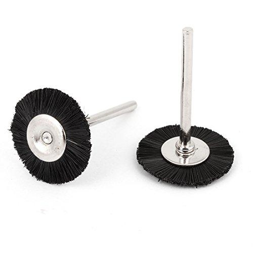 2 Pcs 25mm Dia Black Nylon Brush Polishing Wheel for Rotary Tool