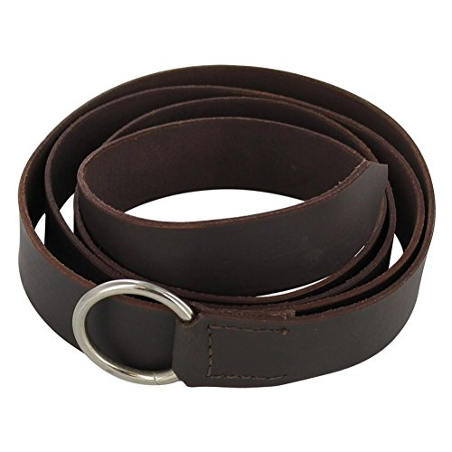 Armory Replicas Simple Brown Medieval Leather Belt with Steel Ring