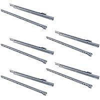 EMUCA - Guías correderas para cajones 450mm con extracción Parcial Color Gris Metalizado, Lote de 5 guías para cajones