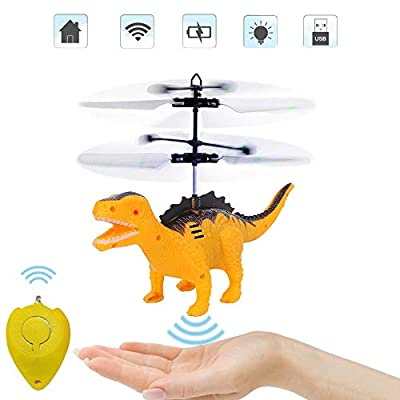 Flying Ball Toys,Remote Helicopter Toy & RC Helicopter Dinosaur Toy with Induction Controlled Mini Dragon Toys,Flying RC Ball,Dino Drones Kids,Dinosaur Gifts for Boys Girls