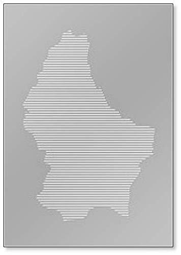 Luxembourg Map Classic Koelkast Magneet
