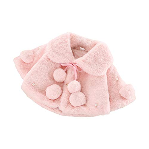 Carolilly - Abrigo para bebé o niña de piel sintética Rose-Style 2...