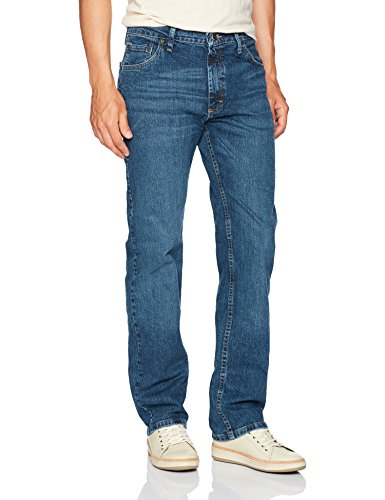 Wrangler Authentics Men's Classic Straight Fit Jean, Ranch Blue Flex, 36W x 32L