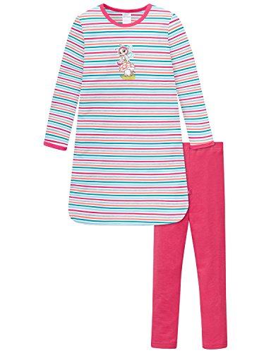 Schiesser Mädchen NICI 1/1 mit Leggings Nachthemd, Mehrfarbig (Multicolor 1 904), 104